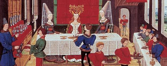 Le linge de table joue un rôle essentiel dans le déroulement du repas, à la fin comme décoration, mais aussi et surtout comme garant d'une certaine hygiène, puisque l'on mange avec ses mains.