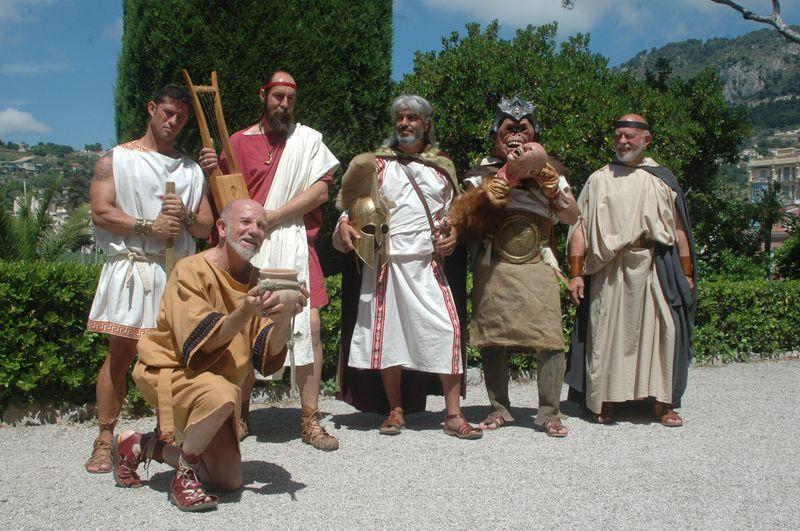 Organisation d'une fête grèce antique parLES VOYAGEURS DU TEMPS - Cecile ARNAUD et Bernard BERTHEL grèce antique grec à la villa de Kerylos pour la fête de Poseïdon